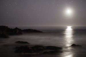 Getting late - Moonset in Laguna Beach